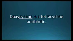 How to pronounce doxycycline (Doryx) (Memorizing Pharmacology Flashcard)
