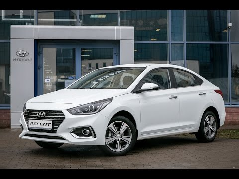 New Hyundai Accent Хёндэ Солярис тест драйв Автопанорама