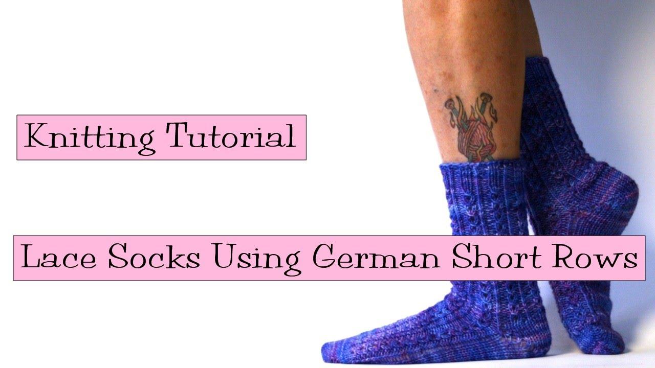 Knitting tutorial lace socks using german short rows youtube bankloansurffo Images