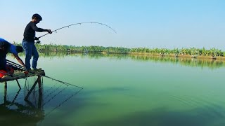 Big Catla Fish Catching Videos By Sujon In Village Fishing Competition