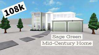 ROBLOX - France Bloxburg: Sage Green Mid-Century Accueil 108k