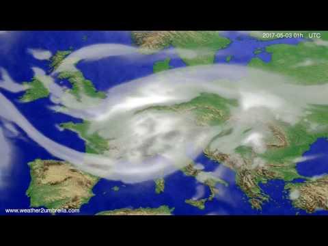 Cloud forecast Europe 2017-04-30