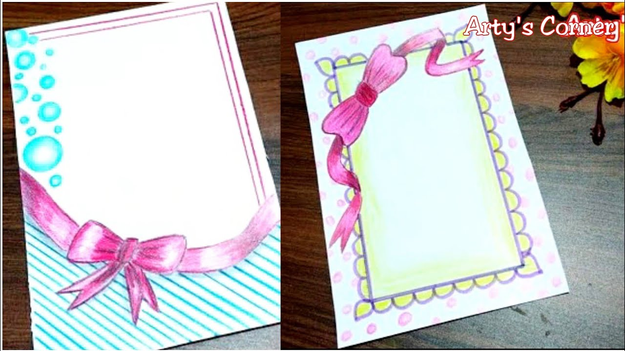 ribbon draw | new border for assignment | front page
