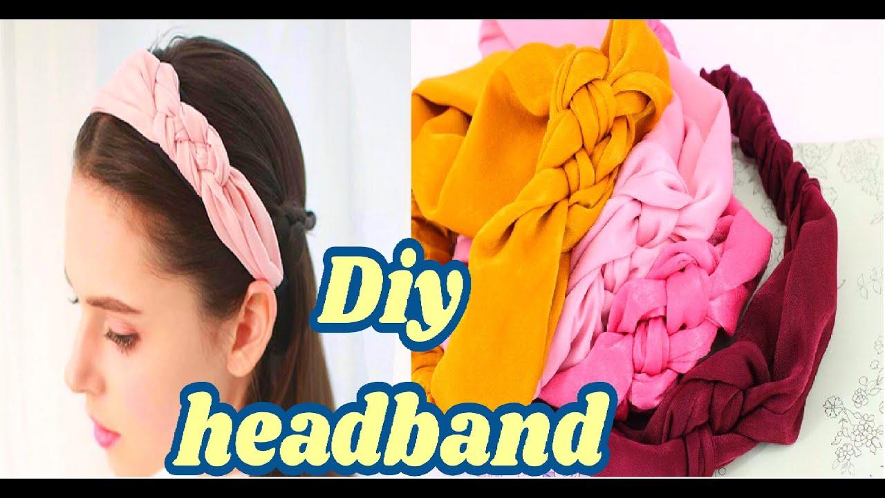 diy braided headband/turbante vincha  trenzada /خياطة باندانة  الضفيرة للشعر شيك في دقائق