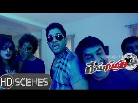 Allu Arjun Lungi Dance   Race Gurram Movie Comedy Scenes   Shruti Hassan