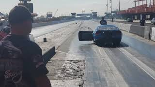 Drag racing save don topo mustang pro mod almost crashed@ nostalgia drag racing event in Puerto rico