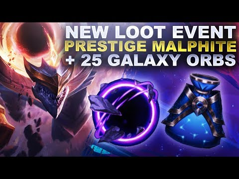 UNLOCKING PRESTIGE MALPHITE! + 25 GALAXY ORBS! | League of Legends