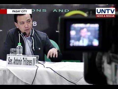 Grupo ni Supt. Marcos at ilang miyembro ng PNPA, kabilang sa death squad - Sen. Antonio Trillanes