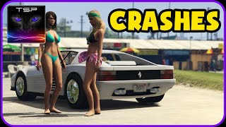 GTA V - Crashes & Accidents (Extreme Damage + Snow Mod) #10