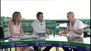 Wimbledon: John McEnroe visits the Live @ Wimbledon studio