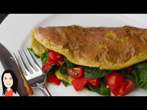 Vegan Chickpea Omelette – NO EGGS! Perfect Vegan Breakfast Idea!