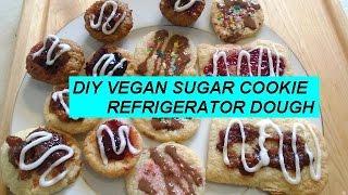 Sugar Cookie Dough Recipe, Refrigerator Dough, Vegan, Crispy Cookies