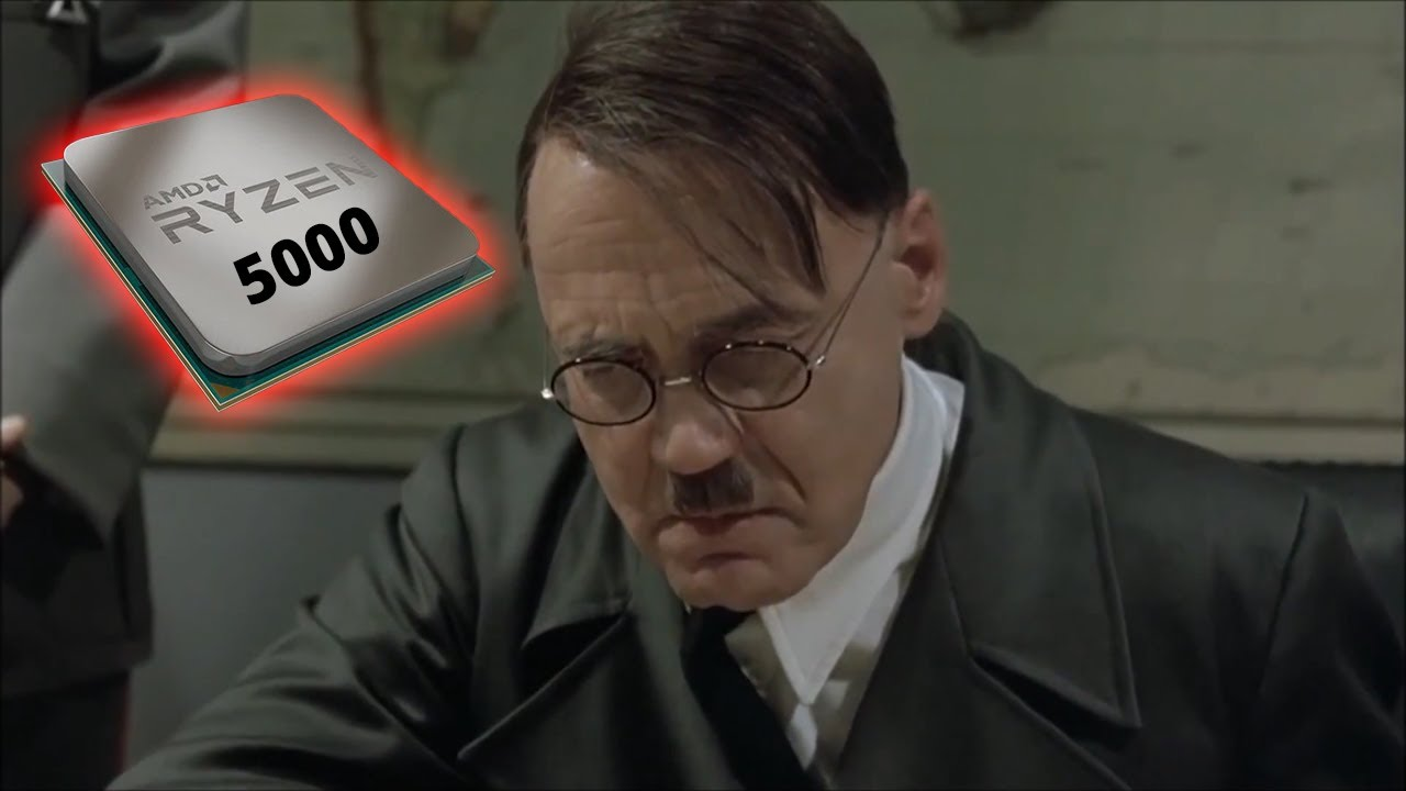 Hitler reacts to AMD Ryzen 5000 Series VS Intel - I found this video in the comment section of a similar video that was about AMD Bulldozer VS Intel Sandy Bridge.