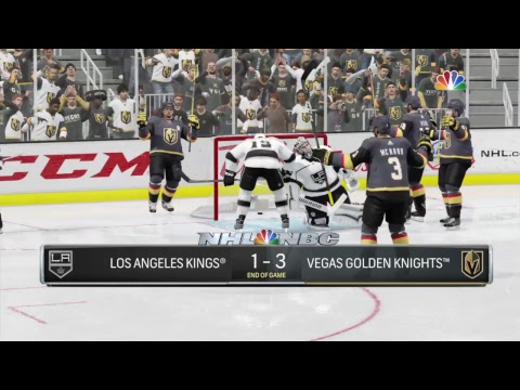 NHL 18 , Stanley Cup playoffs, L.A. Kings at Vegas, Game #7,  PS4