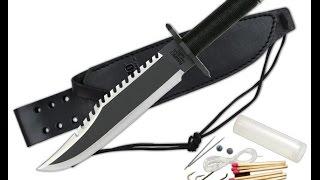 обзор ножа выживания (копии) ножа рэмбо
