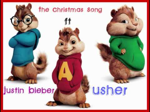 Justin Bieber The Christmas Song. Ft Usher | Chipmunk Version