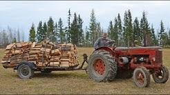 1948 McCormick Deering Tractor Hauling Firewood