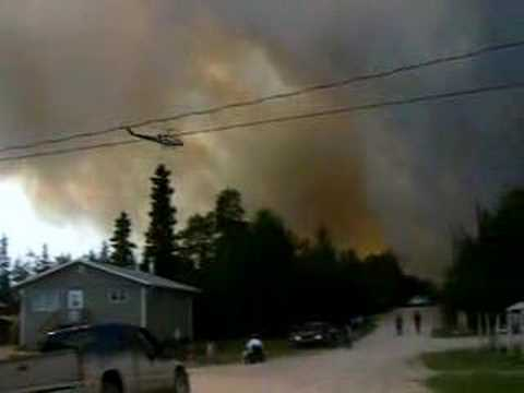 Forest Fire in Pelican Narrows