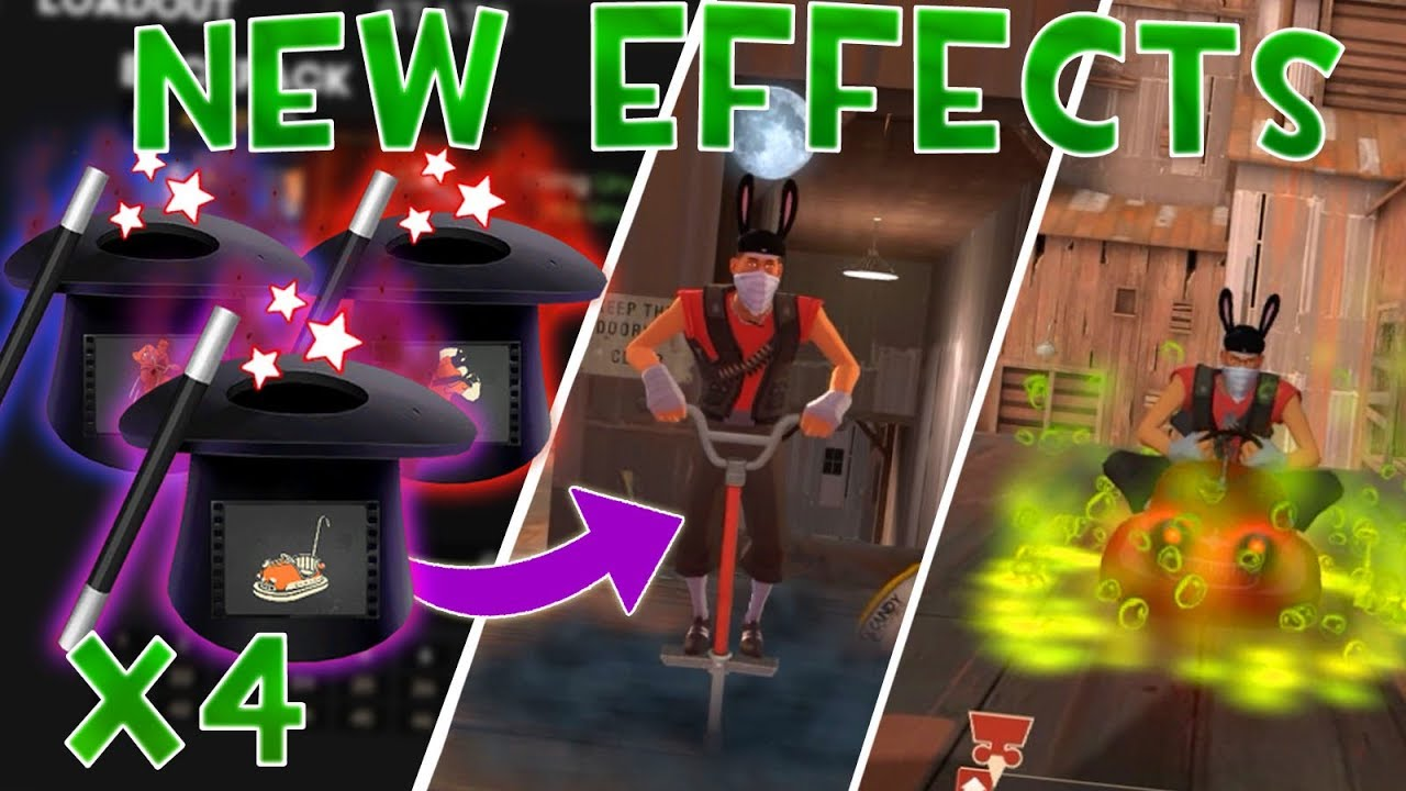 [TF2] USING 4 SCREAM FORTRESS UNUSUALIFIERS (New Halloween Effects)