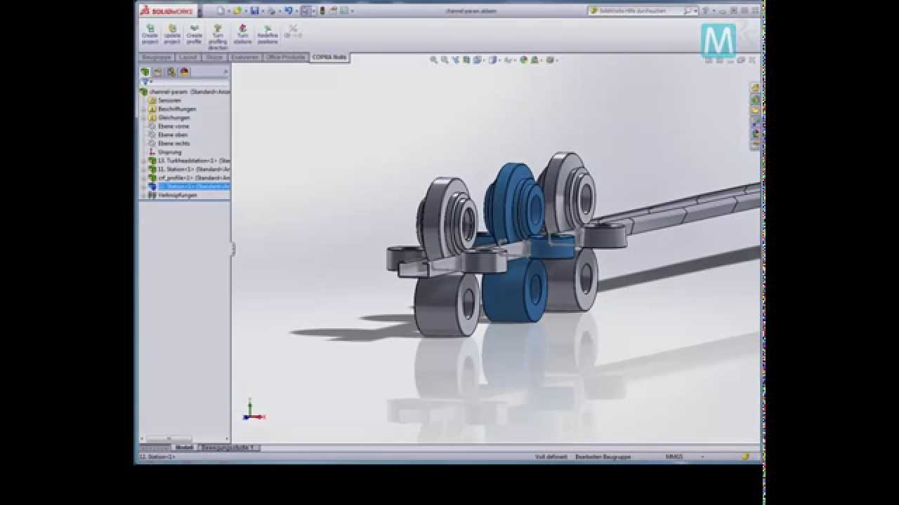 Copra 174 Rf Solidworks Interface Youtube