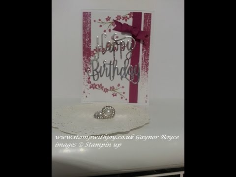 Color theory birthday card stampin up