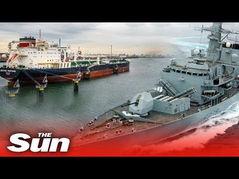 Royal Navy trains guns at Iranian boats trying to storm British tanker