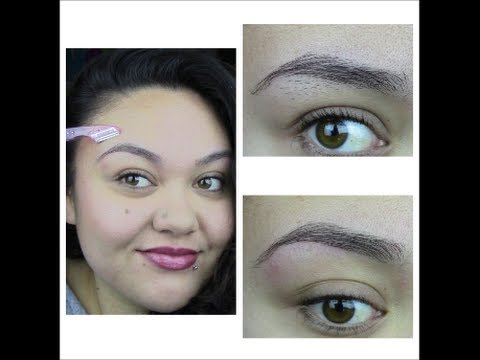 Eyebrow Grooming Using a Razor - YouTube