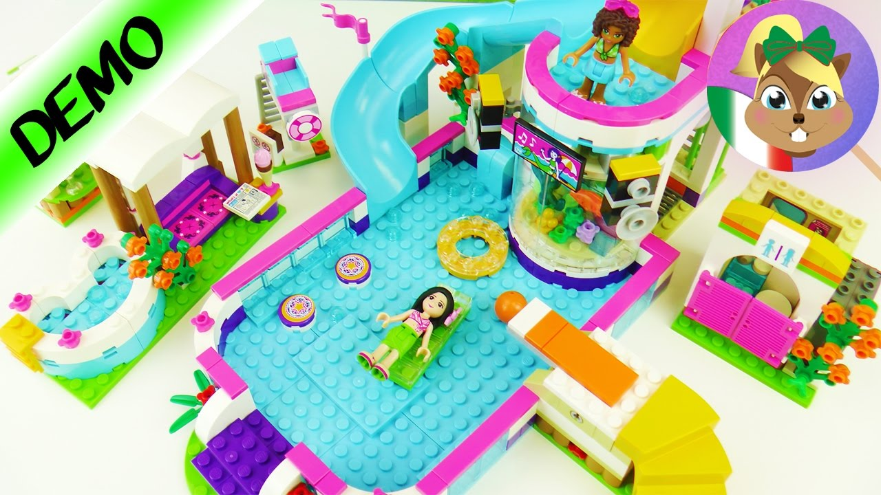 lego friends piscina all 39 aperto con vasca idromassaggio