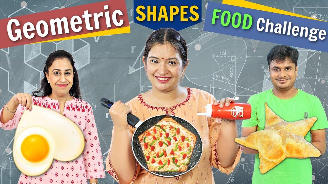 Geometric Shaped Food Challenge | CookWithNisha