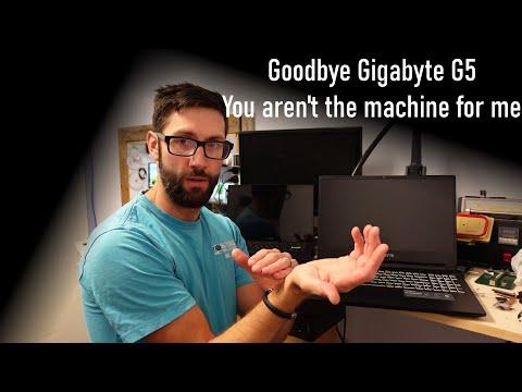 Goodbye to my Gigabyte G5 10500H / 3060