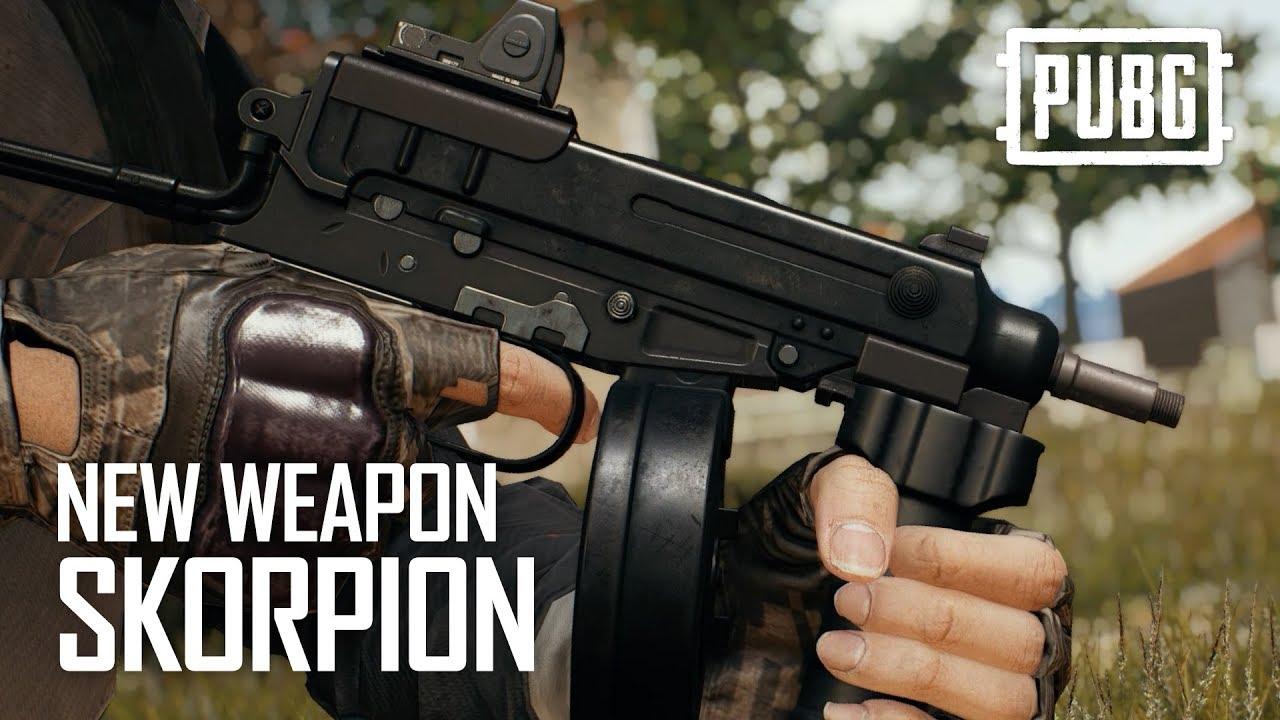 Pubg Weapon Wallpaper Pubg New Weapon Skorpion Youtube