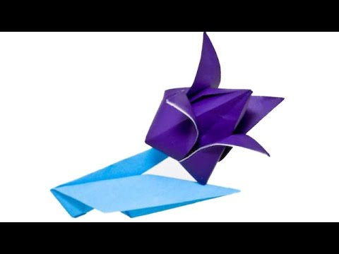 Easy Origami Flower Edelweiss How To Make An Origami Flowers Youtube