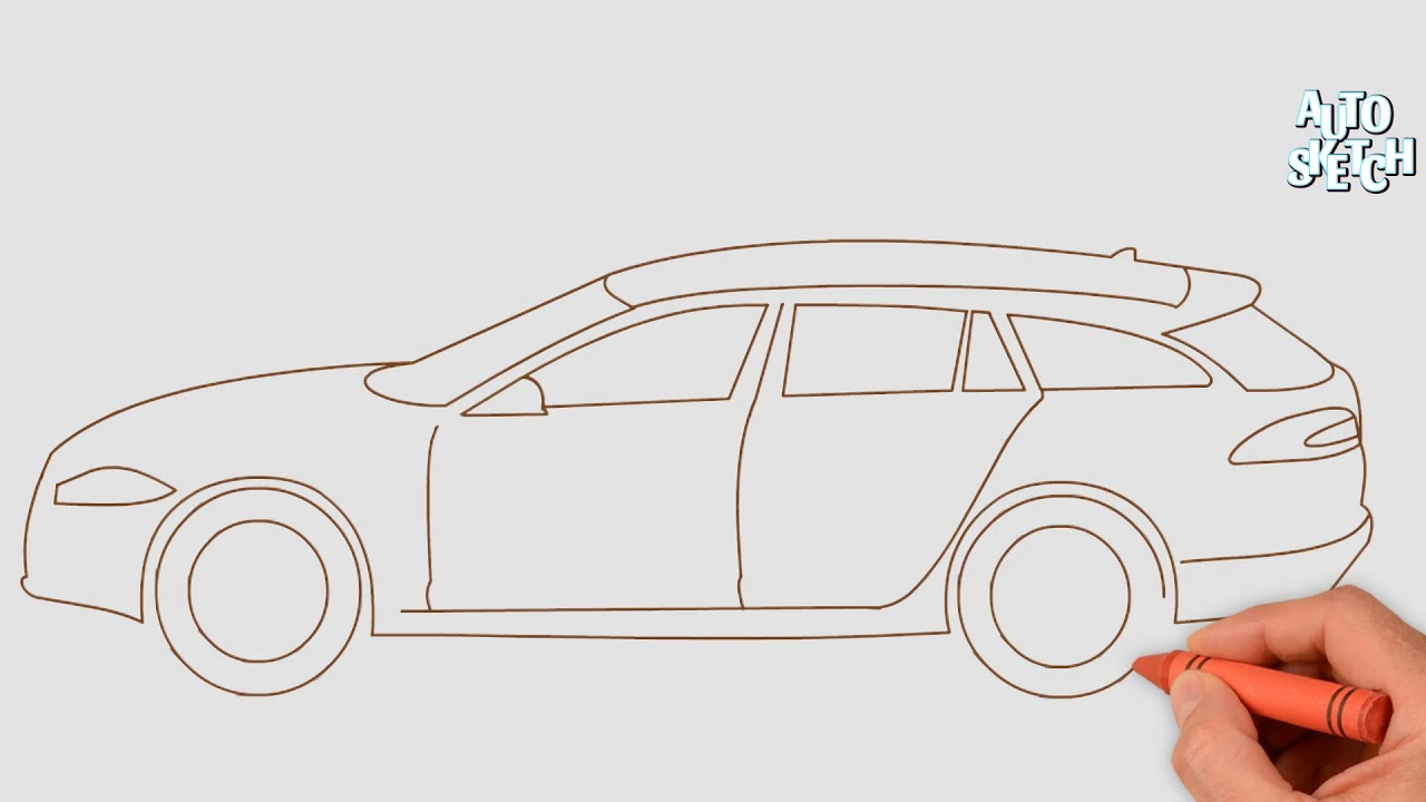 How To Draw A Jaguar Xf Sportback Cars Drawing Youtube