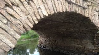 Старинный мост села Юго  Конево  Река Синара  Урал