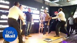 Geordie Shore's Aaron Chalmers in heated weigh-in for MMA fight - Daily Mail