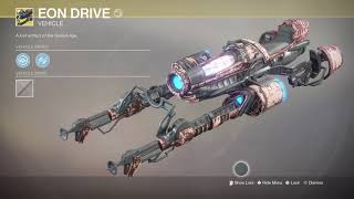 Destiny 2 Warmind - EON DRIVE - Exotic Sparrow