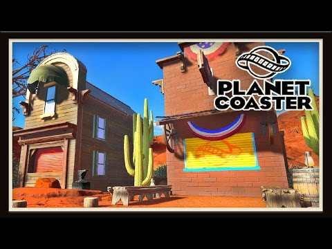 Planet Coaster: Building A Western Town Food Court  (Season 2 - part 5)
