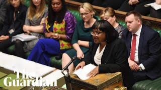 Diane Abbott becomes first black MP to represent her party at PMQs