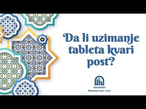 RAMAZANSKA PITANJA: DA LI UZIMANJE TABLETA KVARI POST?