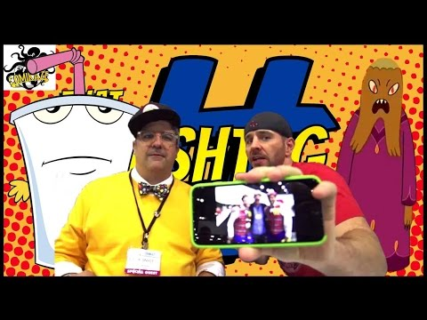 Dana Snyder Funny Interview (Master Shake from Aqua Teen Hunger Force) Comikaze 2014