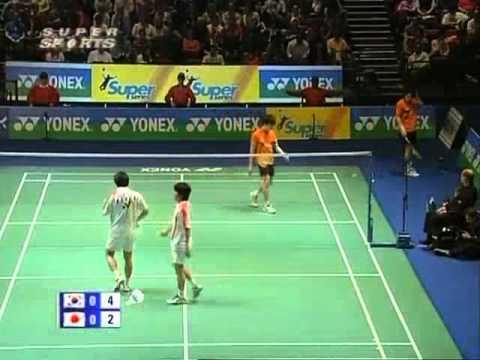 all england open 2008 Ji Man HWANG Jae Jin LEE vs Shintaro IKEDA Shuichi SAKAMOTO All England Open 2008 Semi Final1