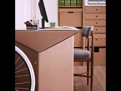 Schreibtisch Aus Pappe Effektvolle Möbel Karton Möbel Youtube