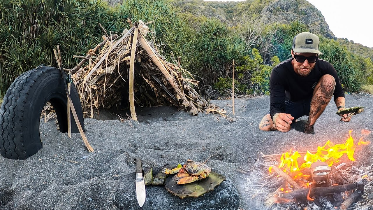 Download 3 DAYS solo survival (NO FOOD, NO WATER, NO SHELTER) on an island with only a POCKET KNIFE.. EP 29