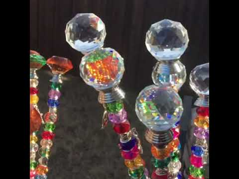 Sparkling glass beaded garden decor