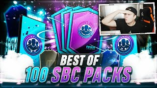 FIFA 19: 100 SBC PACKS!!! BEST OF CHAMPIONS LEAGUE LIVE KARTEN PACK OPENING