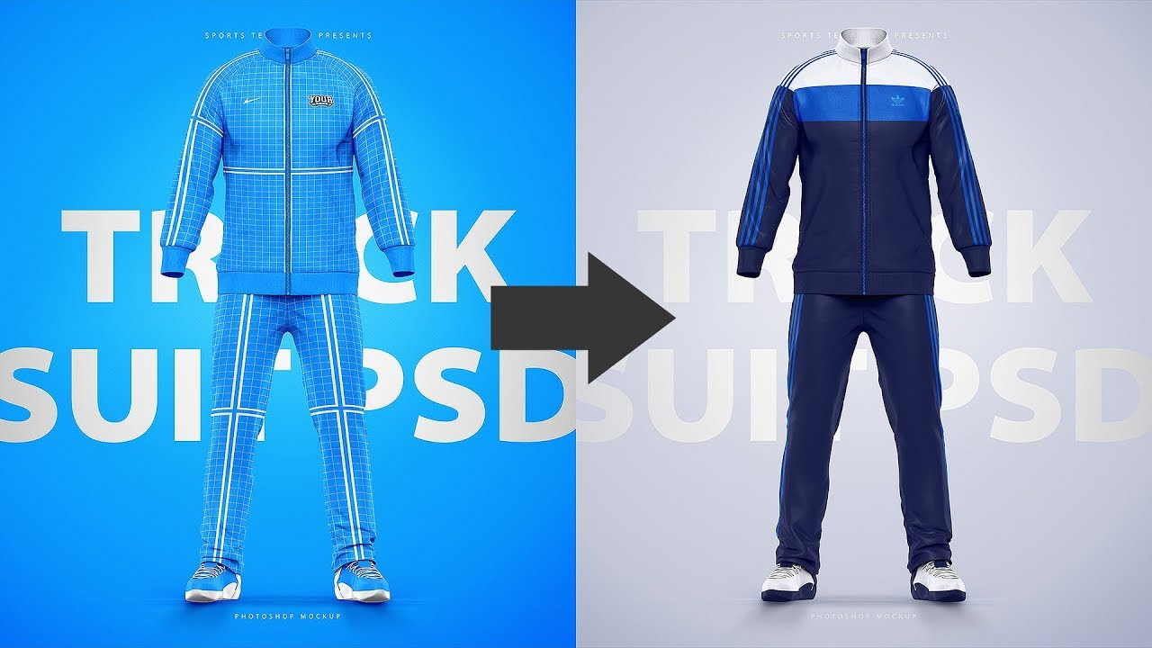 How to design Sports Tracksuits using a Photoshop Template