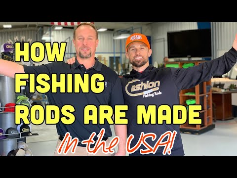 HOW FISHING RODS ARE MADE - In The USA!