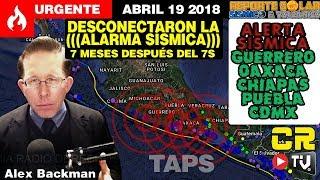 URGENTE! ((ALERTA SÍSMICA)) MÉXICO MAR CARIBE CENTRO Y SUR AMÉRICA ABR 19 2018