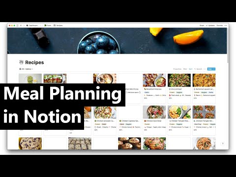 How to use Notion.so to meal plan and make meal prep easier
