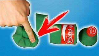 DIY   ЗЕЛЕНАЯ, ТВЕРДАЯ, КИНЕТИЧЕСКАЯ Coca Cola